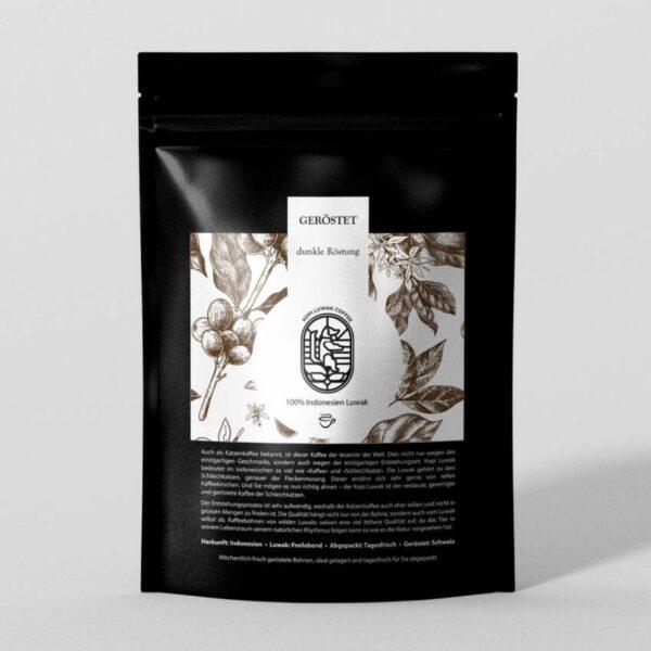 Kopi Luwak Kaffee geröstet dunkle Röstung